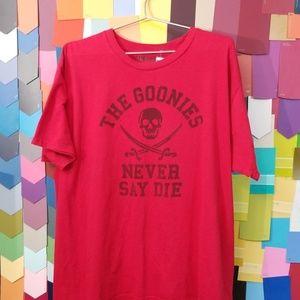 The Goonies Never Say Die tshirt